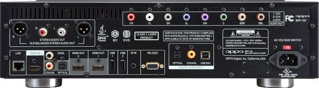 Oppo Flagship BDP-105D Darbee, 3D Bluray Universal Player (Jailbreak) Bdp-105-back-copy