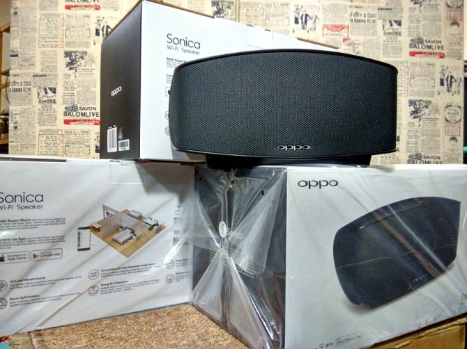Oppo Sonica Wireless Speaker. Wifi, Bluetooth, AUX in, Network. Sonica3