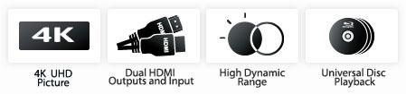 IPUK UHD8592 4K Ultra HD Bluray Universal Player Udp1