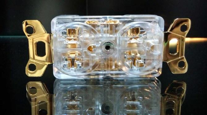 Hi-End high performance US duplex receptacle Iec1