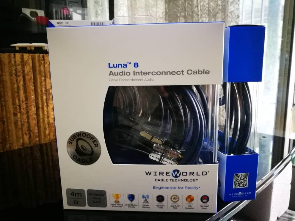 WireWorld Luna 8 Subwoofer Interconnect Cable 4M / 6M Luna