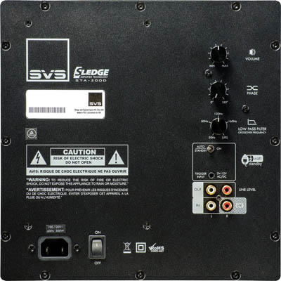 "SVS SB-2000 Subwoofer, Sealed Cabinet, 12"", 500W RMS Sta-500d-copy"