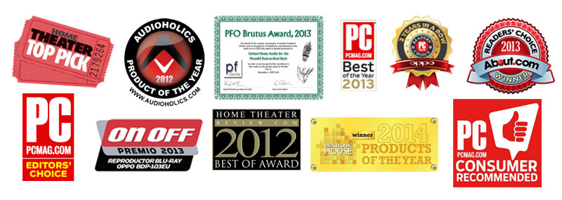 OPPO BDP-103D Darbee, 3D Bluray,SACD,DVD, Universal Player, 4K Upscaling (Modded) 103-award