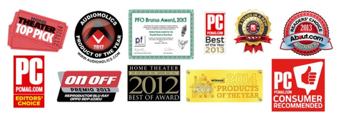 Oppo BDP-103D Darbee, 3D Bluray Universal Player, Dual HDMI, 4K Upscaling (Jailbreak) 103-award