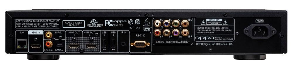 OPPO BDP-103D Darbee, 3D Bluray,SACD,DVD, Universal Player, 4K Upscaling (Modded) 103d-bak