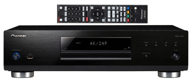 Pioneer BDP-LX58 Bluray 3D, SACD, Universal Player. 4K Upscaling, Jailbreak Pioneer-lx58f