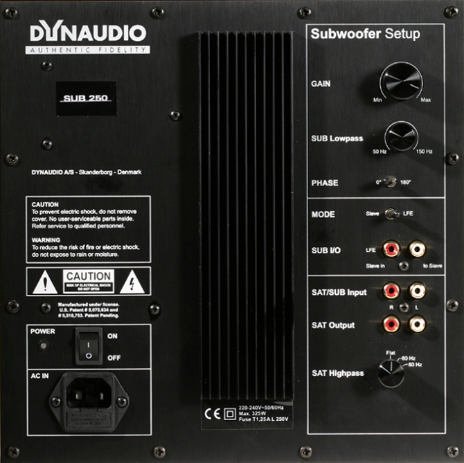 Dynaudio SUB 250 Sealed Subwoofer, 10″, Denmark Dynaudio-sub-250_677074