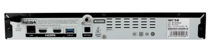 GIEC BDP-G5300 4K Ultra HD Bluray, 3D Bluray, DVD player. Affordable, Cinavia Free, Region Free, Optional Jailbreak/Mod Back