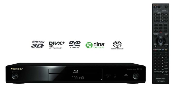 Pioneer BDP-140 3D Bluray, SACD, DVD Player, Modded, Cinavia FREE 140b-1