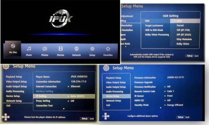 IPUK UHD8592 4K Ultra HD Bluray Universal Player Ipuk-8592