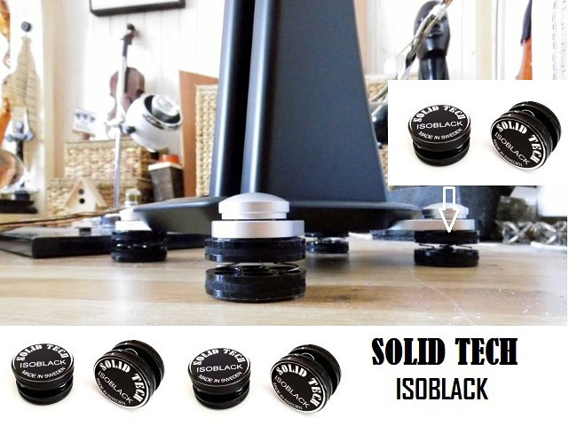Solid Tech IsoBlack Vibration Isolators (Set of 4), Sweden Banner_isoblack_solid_tech_scansonic_by_schallwan_audio_laboratory_06.2020