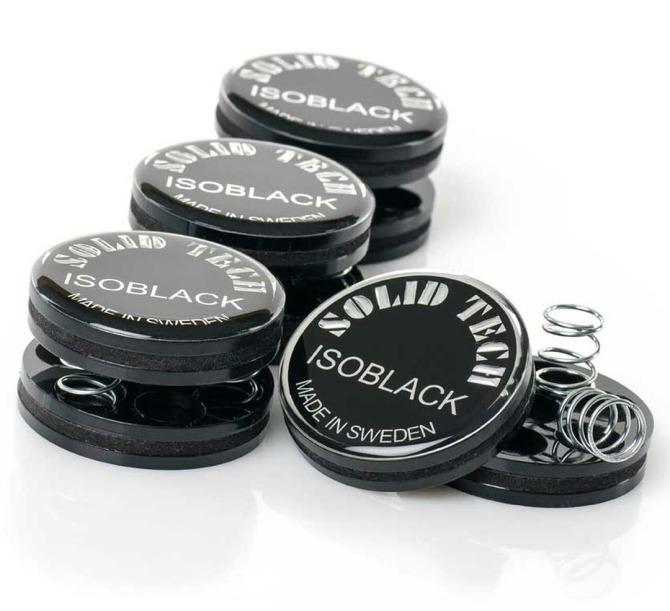 Solid Tech IsoBlack Vibration Isolators (Set of 4), Sweden Isoblack__33588__67884.1554462220
